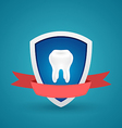 Icon protected human teeth vector image vector image