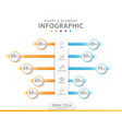 infographic 5 steps chart comparison diagram vector image