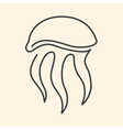 jellyfish one line vector image