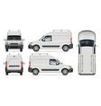 minivan on white background vector image vector image