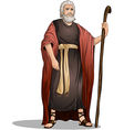 Moses From Bible For Passover vector image vector image