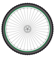 Mountain bicycle wheel on a white background vector image vector image