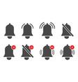 notification bells icons alert reminder alarm vector image