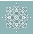 Paper lace doily decorative snowflake round vector image vector image
