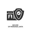 protection personal data icon vector image vector image