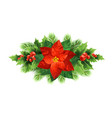 red poinsettia flower christmas vector image vector image
