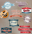 retro quality labels vector image vector image