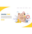 saving time website landing page design vector image vector image
