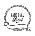 Seal stamp with ribbon icon Hand draw label vector image vector image