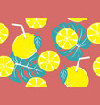seamless pattern of yellow lemon vector image vector image