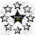 set of black grunge stars vector image vector image