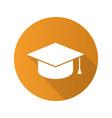 square academic graduation cap flat design long vector image vector image