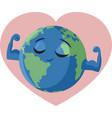 strong earth cartoon vector image