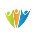 Swooshes figures logo vector image vector image