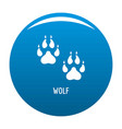 wolf step icon blue vector image