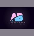 ab alphabet letter join joined letter logo design