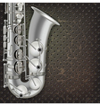 abstract dark gray music background with silver vector image vector image