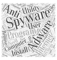 adware software removal spyware Word Cloud Concept vector image vector image
