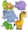 african animals collection 4 vector image vector image