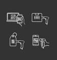 barcodes chalk icons set vector image vector image