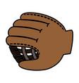 baseball glove isolated icon vector image vector image
