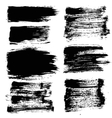 Black Grunge Strokes Backgrounds Set vector image vector image