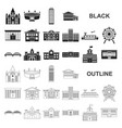 building repair black icons in set collection for vector image vector image