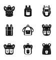 camp backpack icon set simple style vector image vector image