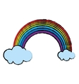 cartoon rainbow clouds emblem st patrick day vector image vector image