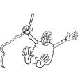 Chimp cartoon for coloring