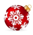 Christmas ball on a white background vector image vector image