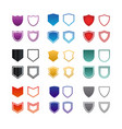 collection of colorful shield logo icon template vector image