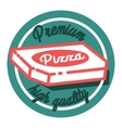 Color vintage pizza emblem vector image
