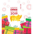 creative chinese new year 2019 gifts year of the vector image vector image