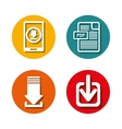 Download icons and buttons graphic vector image