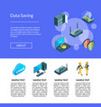 electronic system of data center icons page vector image vector image