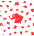 elephants seamless pattern vector image vector image