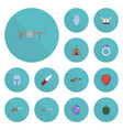 flat icons jewelry weapon gem and other vector image