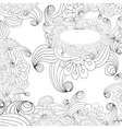 floral decorative black and white background vector image vector image