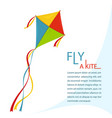 fly kite in sky vector image vector image