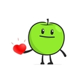 funny cartoon apple vector image