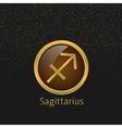 Golden Sagittarius sign vector image vector image