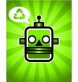 Green recycling retro robot vector | Price: 1 Credit (USD $1)