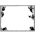 Halloween frame with ghost silhouettes