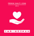 hand holding heart symbol graphic elements for vector image vector image