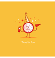 Happy hour event celebration New Year countdown vector image vector image
