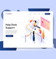 help desk support isometric concept vector image