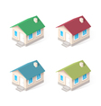 House isometric icons set vector image vector image