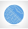 Jellyfish round icon vector image vector image
