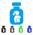 lady breast vial icon vector image vector image